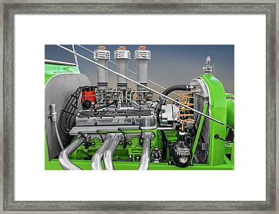 A Tequila Cooled 1923 Ford T-bucket Engine Detail  -  1923tbucket_tequila9787 Framed Print