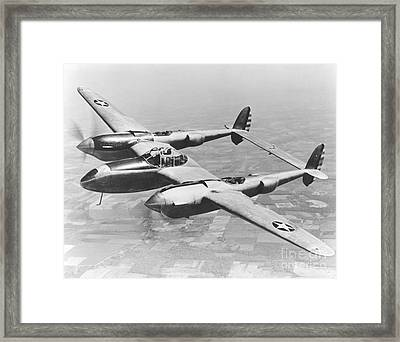 A Test Flight Of The Yp-38 Service Test Framed Print