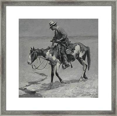 A Texas Pony, 1889  Framed Print by Frederic Remington