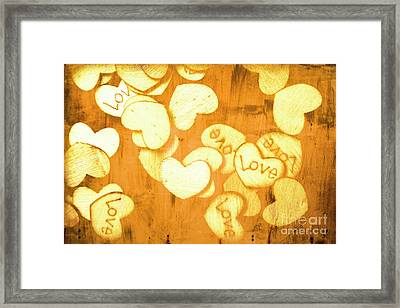 A Texture Of Vintage Love Framed Print by Jorgo Photography - Wall Art Gallery