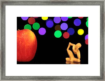 A Thinker In Starry Night Framed Print by Paul Ge