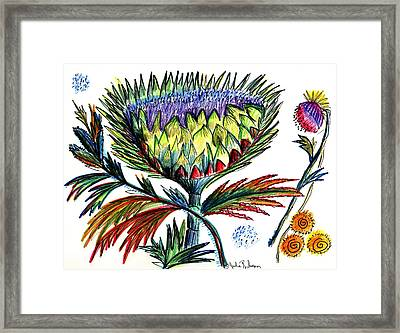 A Thistle Framed Print by Julie Richman