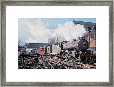 A 'thompson' B1 Class Moving Empty Stock On A Cold February Morning Framed Print