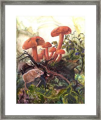 Framed Print featuring the painting A Thorny Situation by Sherry Shipley