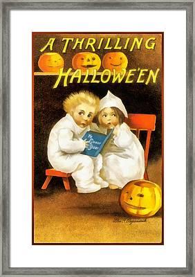 A Thrilling Halloween Framed Print