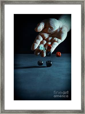 A Throw Of The Dice Framed Print by Amanda Elwell