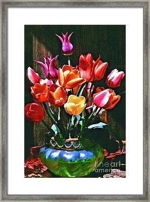 A Time For Tulips Framed Print