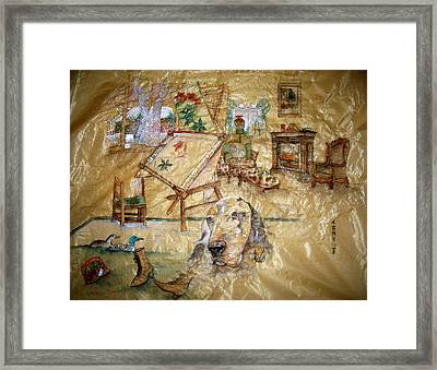 Framed Print featuring the painting A Time Gone By by Debbi Saccomanno Chan