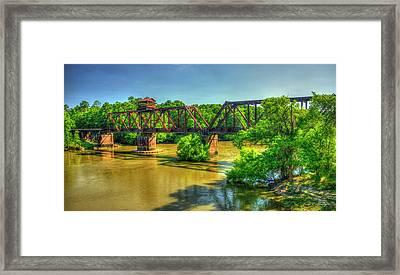 A Time Gone By Railroad Bridge Lumber City Georgia Framed Print