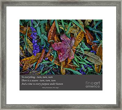 A Time To Every Purpose Under Heaven Framed Print by Jim Fitzpatrick