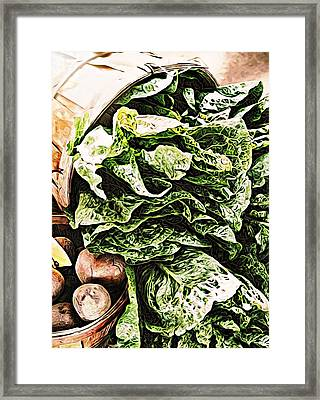 A Time To Reap By C J Anderson Framed Print by CJ Anderson