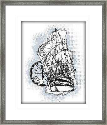 A Time To Sail 2 Framed Print