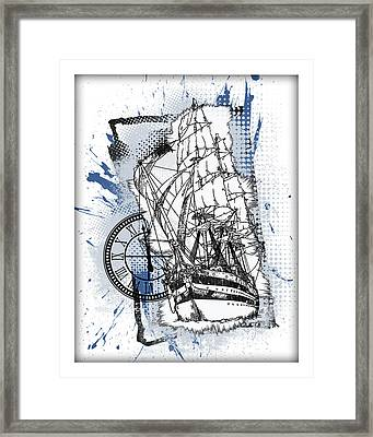 A Time To Sail Framed Print by Melissa Smith