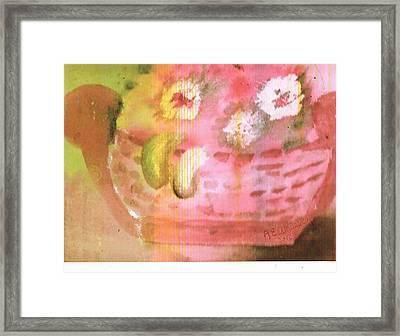 A Tisket A Tasket Framed Print by Anne-Elizabeth Whiteway