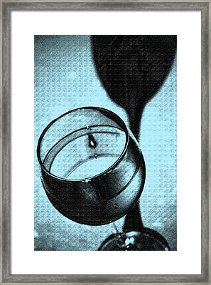 A Toast In Blue Framed Print by Marnie Patchett