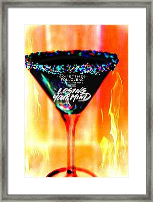 A Toast To The Heart And Mind Framed Print by ARTography by Pamela Smale Williams