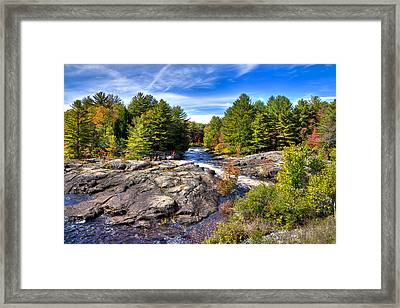A Touch Of Autumn At The Black River Framed Print by David Patterson