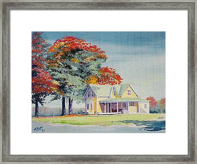 A Touch Of Fall Framed Print by Barry Smith