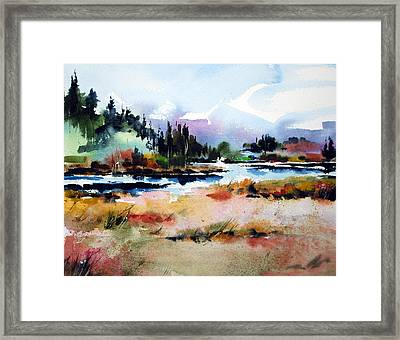 A Touch Of Green Framed Print by Wilfred McOstrich