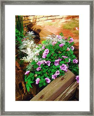 Framed Print featuring the painting A Touch Of Nature by Sandy MacGowan