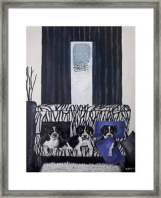 A Touch Of Purple Blue Framed Print by Aleta Parks