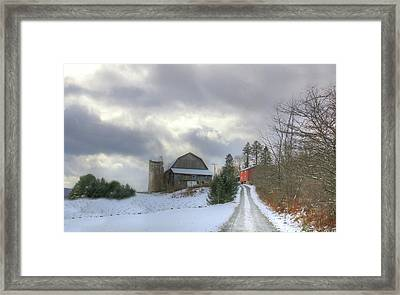 Framed Print featuring the photograph A Touch Of Snow by Sharon Batdorf