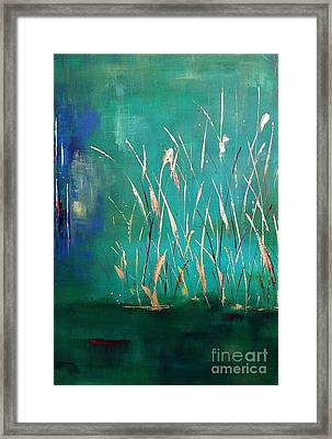 A Touch Of Teal Framed Print by Frances Marino