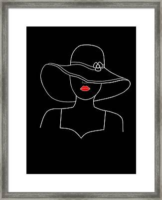 A Touch Or Red Framed Print