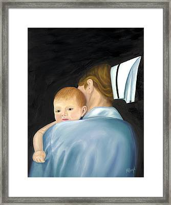 Framed Print featuring the painting Comforting A Tradition Of Nursing by Marlyn Boyd