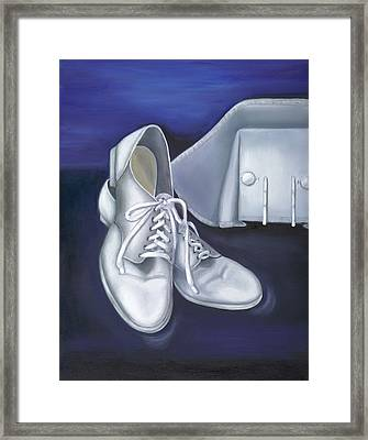 Framed Print featuring the painting A Tradition Of White by Marlyn Boyd