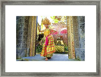 A Traditional Kecak Dances Framed Print