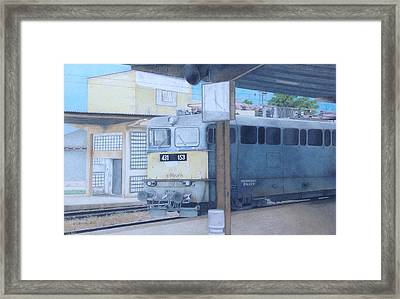 A Train In Budapest Framed Print by Wilfrid Barbier