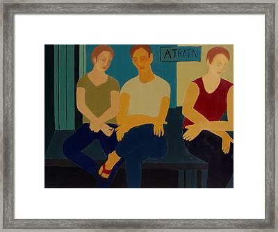 A Train Framed Print by Renee Kahn
