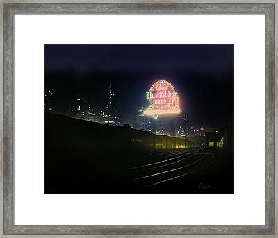 A Train's A Comin' 1948 Framed Print