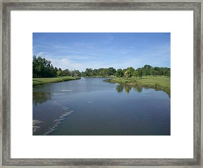 A Tranquil Day In Michigan Framed Print by Sholeh Mesbah
