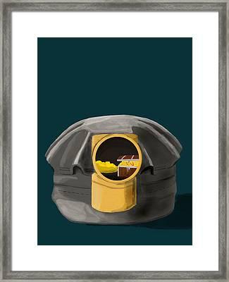 A Treasure Inside The Miners Helmet Framed Print
