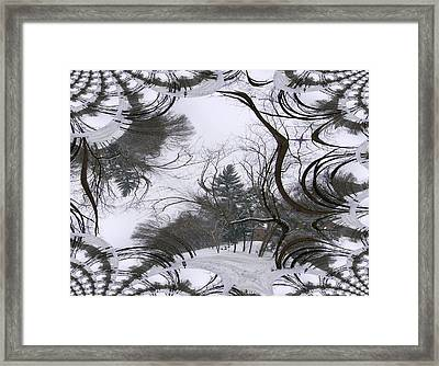 Framed Print featuring the digital art A Tree Fractal by Skyler Tipton