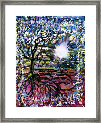 A Tree In The Country For Shitao Framed Print by Tom Hefko