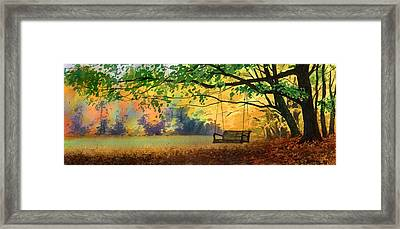 A Tree Swing Framed Print by Sergey Zhiboedov