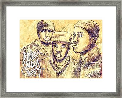 A Tribe Called Quest Framed Print by Tuan HollaBack