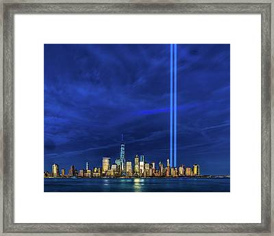 Framed Print featuring the photograph A Tribute At Dusk by Chris Lord