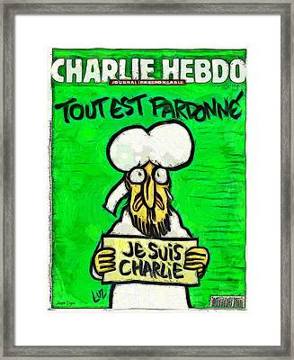A Tribute For Charlie Hebdo Framed Print by Leonardo Digenio