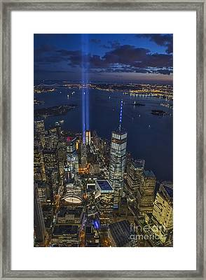 A Tribute In Lights Framed Print