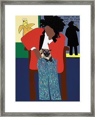 A Tribute To Jean-michel Basquiat Framed Print