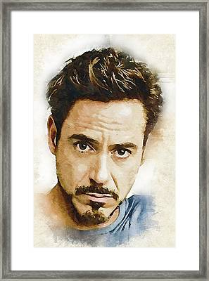 A Tribute To Robert Downey Jr. Framed Print