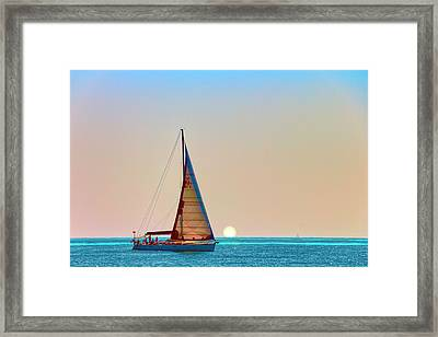 A Trip On A Yacht, Probably One Of The Most Romantic Adventure Vacation Framed Print