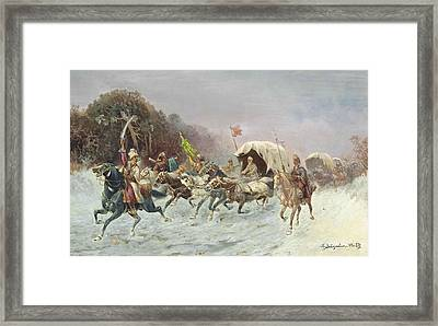 A Troika In The Snow Framed Print