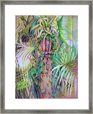 A Tropical Basket On A Post Framed Print