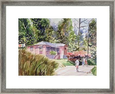 A Tropical Home Framed Print