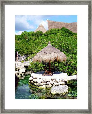 Framed Print featuring the photograph A Tropical Place To Relax by Francesca Mackenney